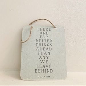 C.S. Lewis Hanging Inspirational Quote Decor Sign